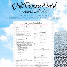 Disney world planning checklist create your own walt disney