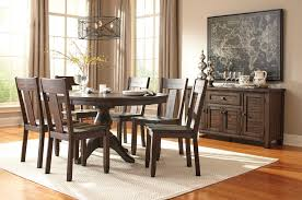 Ashley Furniture Dining Room Table Set by Ashley Furniture Trudell Round Drum Extension Pedestal Table Set