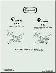 beechcraft baron e 55 58 aircraft wiring diagram manual
