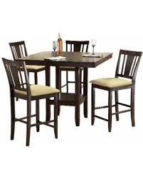 tiburon 5 pc dining table set huge deal on hillsdale furniture arcadia espresso wood counter
