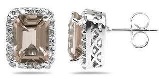 smoky quartz earrings smoky quartz jewelry applesofgold