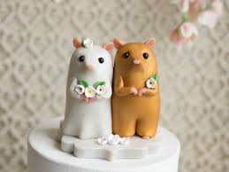 squirrel cake topper hamster wedding cake topper