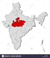Map Of India With States by Political Map Of India With The Several States Where Madhya