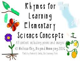 rhymes for learning elementary science concepts music in our