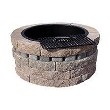 Fire Pit Inserts by Scapestone Fire Pit Kit Concrete Patio Pavers Boston Ma