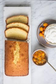 vanilla poundcake with kumquat thyme marmalade