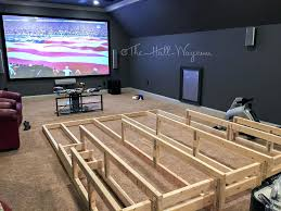 Unfinished Basement Ideas On A Budget Budget Home Theater Seating Media Home Theater Riser I Would Add