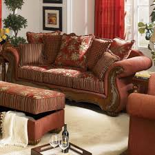 chenille fabric traditional living room savona u142 red