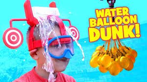 Challenge Water Balloon Dunk Hat Challenge Kid Vs Kid Water Balloon Fight Family
