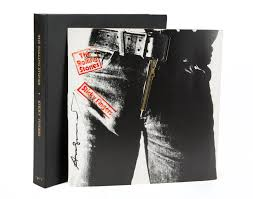sticky photo album an andy warhol signed rolling stones sticky fingers album sleeve
