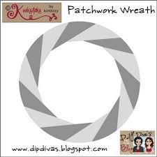 dip diva u0027s patchwork wreath template