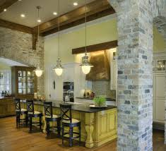 Idea Kitchen Brick Walls In Kitchen Wonderful Decoration Idea Kitchens