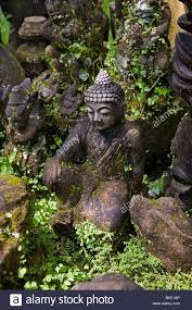 indonesia ubud bali garden statues stock photo royalty free
