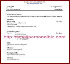 Resumes With No Job Experience by 13 Right Out Of College Resume Templates No Experience