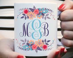 custom monogram etsy