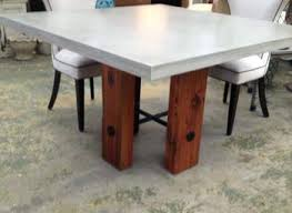 concrete and wood dining table dining table diy concrete and wood dining table room chunky legs