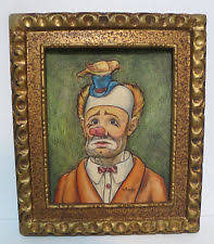 artini engraving vintage artini engraving painted etched 4d clown