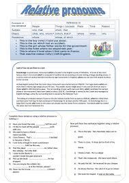 63 free esl relative pronouns worksheets