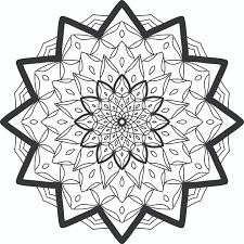 volume geometry mandala coloring books