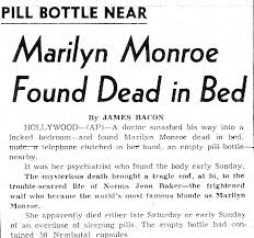 death of marilyn monroe 50 years ago