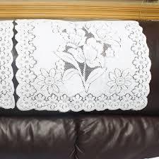 new promotion color white cotton sofa armrest towel sofa towel