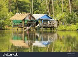 stilt houses ream national park cambodia stock photo 133880591