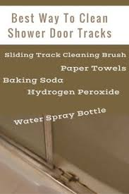 How To Clean Shower Door Tracks How To Clean Your Shower Door Tracks Water Stains
