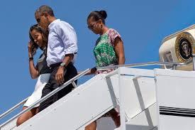 obama family begins vacation on martha u0027s vineyard wbur news