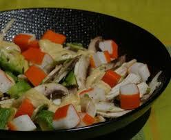 cuisiner le surimi salade avocat et surimi recette de salade avocat et surimi marmiton