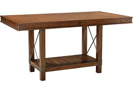 Red Hook Pecan Rectangle Counter Height Dining Table Dining - Kitchen table height