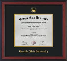 14x17 diploma frame gsu diploma frame cherry w gsu seal black on gold