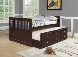 amazon com donco kids 303 fcp captains trundle bed full dark