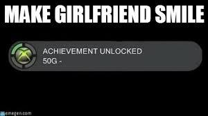 make girlfriend smile achievement unlocked meme on memegen