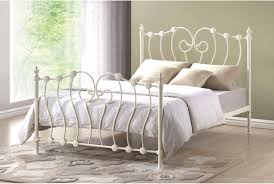 victorian french 5ft king size ivory white metal bed frame amazon