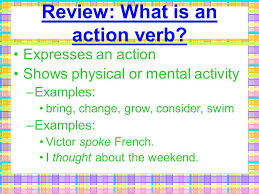 verbs type what is the difference between an action verb and a
