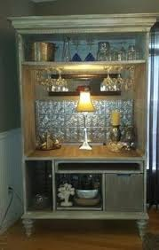 Entertainment Bar Cabinet Armoire Turned Into Bar Omg A Personal Favorite From My Etsy