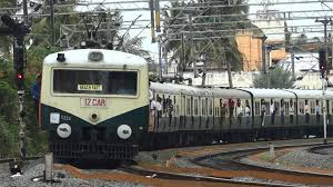 electric suburban at chennai fast line to