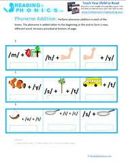 phonemic addition and deletion worksheets u0026 activities for kids