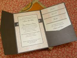 Invitation Pocket Pink Damask Wedding Invitations Elegant Vintage Romantic Baroque