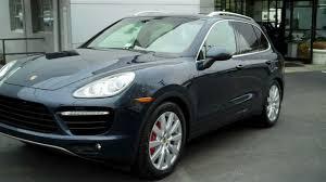 2011 Porsche Cayenne Turbo - 2011 cayenne turbo dark blue exterior espresso cognac inter youtube