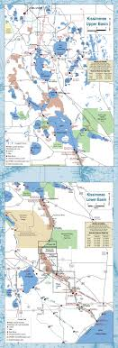 map of kissimmee kissimmee river chain of lakes boating maps capernaum