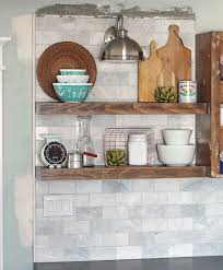 the craft patch how to install floating kitchen shelves over a