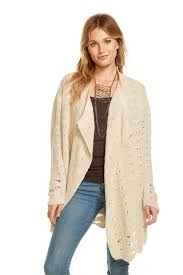 Draped Cardigan Sweater Crochet Sweater L S Open Front Draped Cardigan Chaserbrand Com