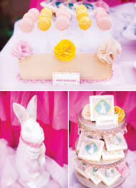 Angel Decorated Cake Heavenly Little Angel Birthday Party Adorable Bunnies