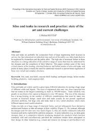silos and tanks in research and practice state of the art and