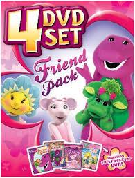 friend pack 4 dvd barney angelina ballerina fifi