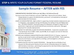 Federal Job Resume Template by 10 Steps To Federal Job
