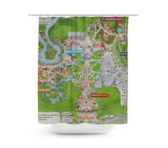 Map Fabric Curtain Map Shower Curtain Ombre Shower Curtain Shower