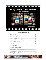 video in the classroom a teacher handbook