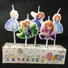 sofia the candle 5pcs set beautiful princess sofia kids girl boy birthday